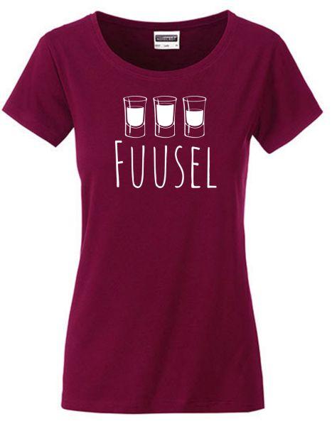 Fuusel | T-Shirt DEERNE | WINE RED (weinrot)
