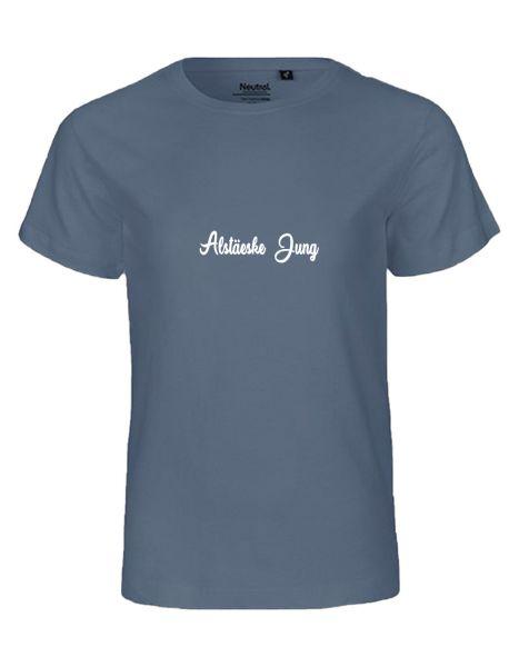 Alstäeske Jung | T-Shirt KINDER | DUSTY INDIGO (blaugrau)