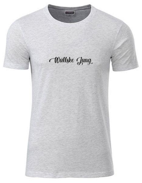 Wüllske Jung | T-Shirt JUNGE | ASH HEATHER (hellgrau)