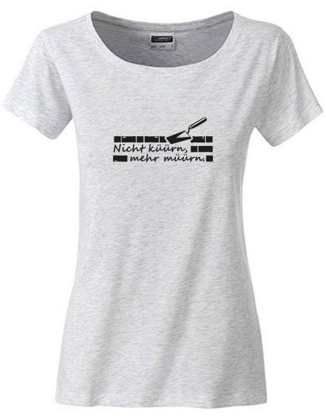 Nicht küürn, mehr müürn | T-Shirt DEERNE | ASH HEATHER (hellgrau)