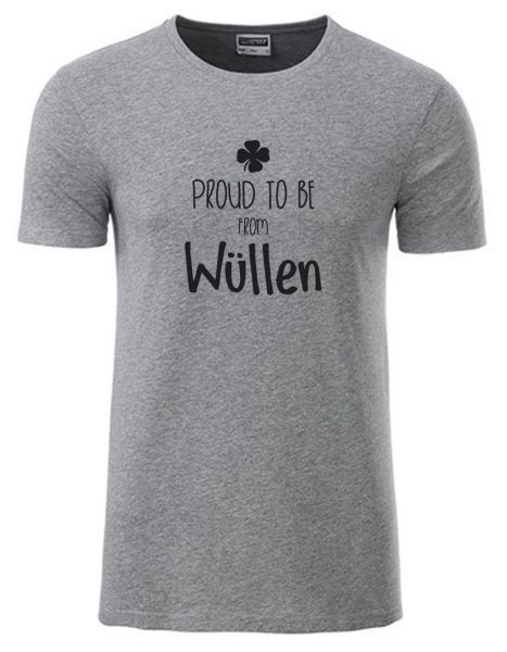 Proud to be from Wüllen | T-Shirt JUNGE | GREY HEATHER (grau)