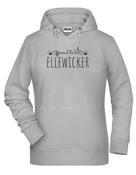 Proud to be Ellewicker | Hoodie WOMAN | ASH (hellgrau)