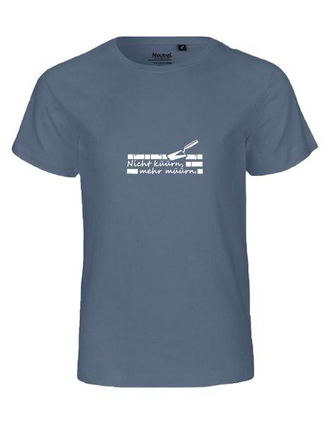 Nicht küürn, mehr müürn | T-Shirt KINDER | DUSTY INDIGO (blaugrau)