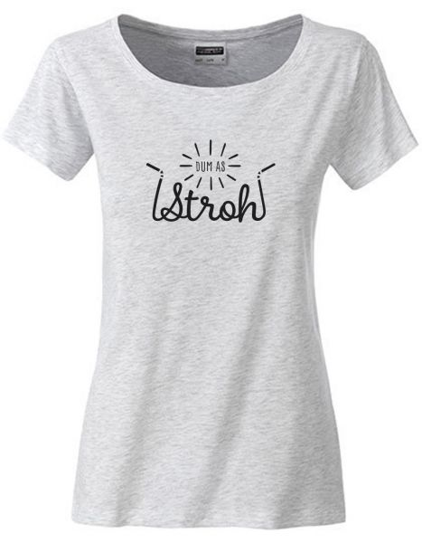 Dum as Stroh | T-Shirt DEERN | ASH HEATHER (hellgrau)