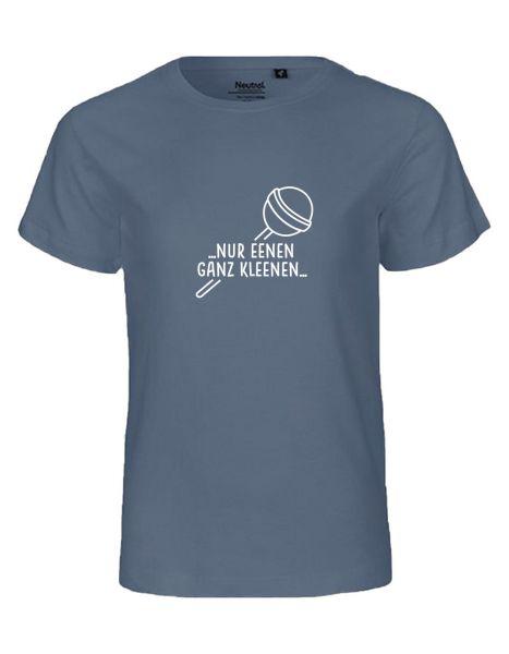 Nur eenen ganz Kleenen (Kinderversion) | T-Shirt KINDER | DUSTY INDIGO (blaugrau)