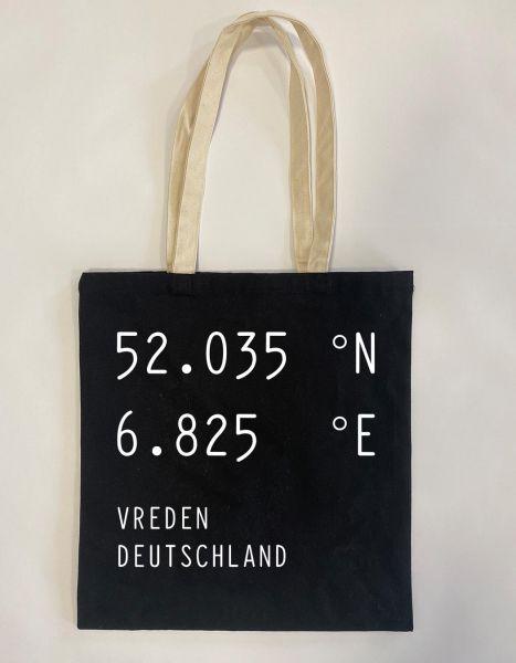 Breiten- u. Längengrad | Baumwoll Tasche | Einkaufstasche