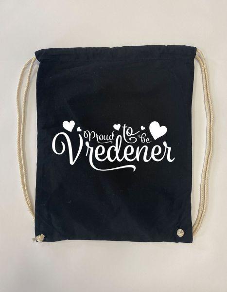 Proud to be Vredener | Baumwoll Rucksack | Sportsack