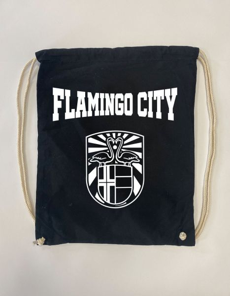 Flamingo City | Baumwoll Rucksack | Sportsack
