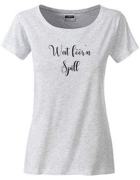 Wat föör'n Spill | T-Shirt DEERNE | ASH HEATHER (hellgrau)
