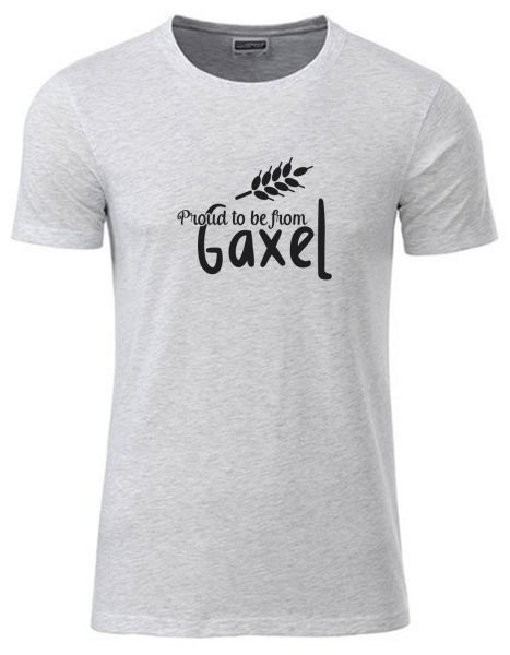 Proud to be from Gaxel | T-Shirt JUNGE | ASH HEATHER (hellgrau)