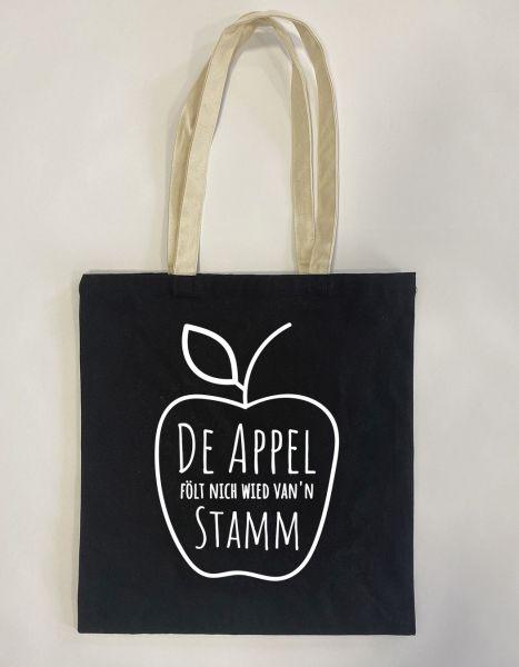 De Appel fölt nich wied van'n Stamm | Baumwoll Tasche | Einkaufstasche