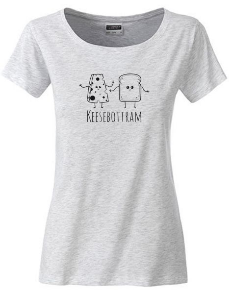 Keesebottram | T-Shirt DEERNE | ASH HEATHER (hellgrau)