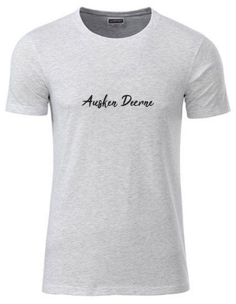 Ausken Deerne | T-Shirt JUNGE | ASH HEATHER (hellgrau)