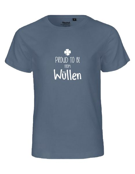 Proud to be from Wüllen | T-Shirt KINDER | DUSTY INDIGO (blaugrau)