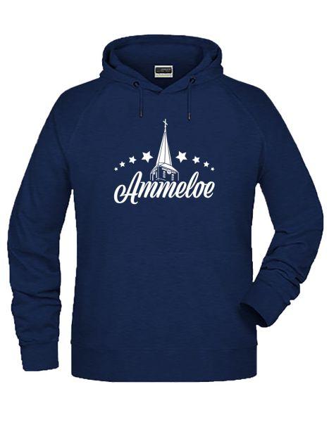 Ammeloe   Hoodie MAN   INK MELANGE (blau)