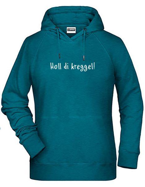 Holl di kreggel! 2 | Hoodie DEERNE | PETROL MELANGE (türkis)