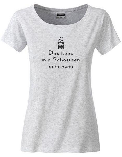 Dat kaas in'n Schosteen schriewen   T-Shirt DEERNE   ASH HEATHER (hellgrau)