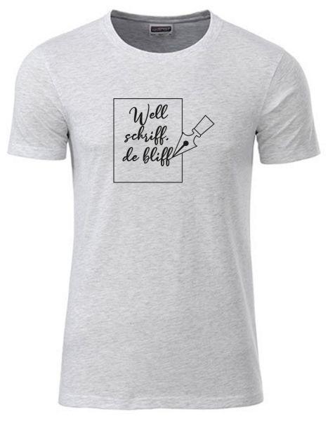 Well schriff de bliff | T-Shirt JUNGE | ASH HEATHER (hellgrau)