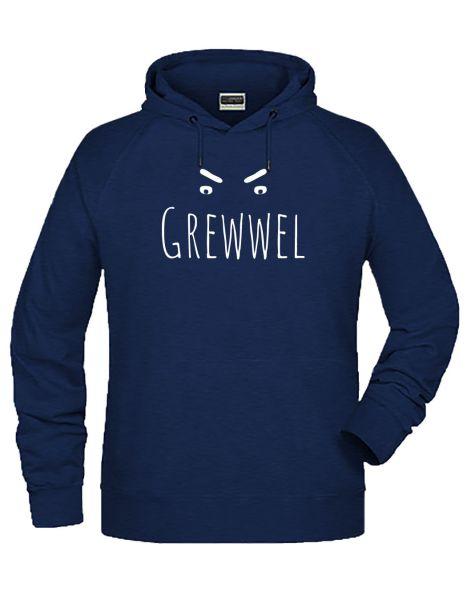 Grewwel | Hoodie MAN | INK MELANGE (blau)