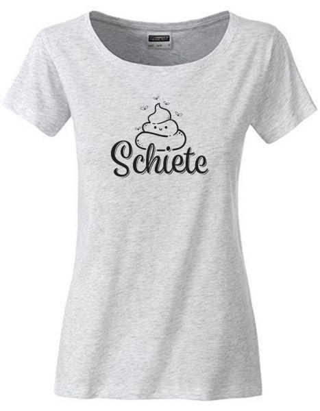 Schiete | T-Shirt DEERNE | ASH HEATHER (hellgrau)