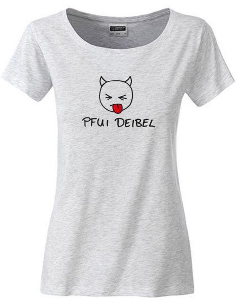 Pfui Deibel   T-Shirt DEERNE   ASH HEATHER (hellgrau)