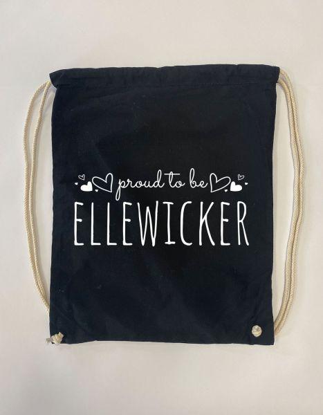 Proud to be Ellewicker | Baumwoll Rucksack | Sportsack
