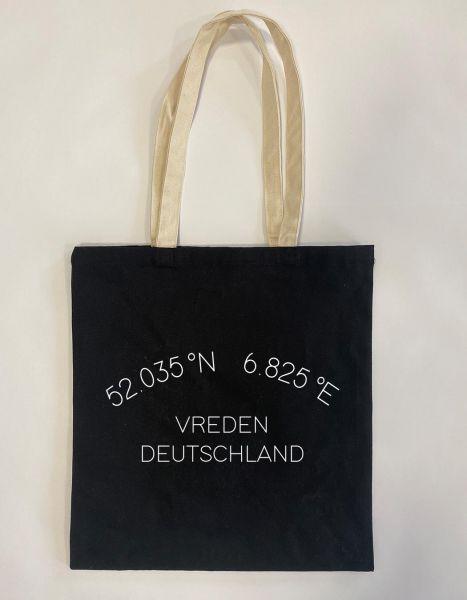 Koordinaten im Halbkreis | Baumwoll Tasche | Einkaufstasche