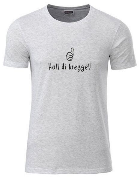 Holl di kreggel! | T-Shirt JUNGE | ASH HEATHER (hellgrau)
