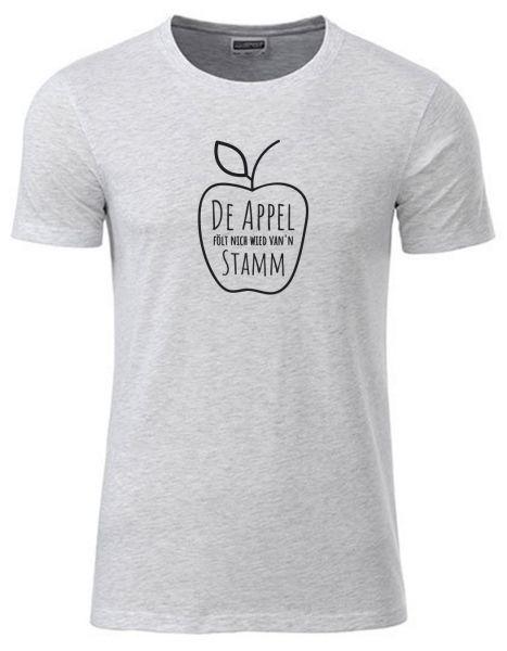 De Appel fölt nich wied van'n Stamm | T-Shirt JUNGE | ASH HEATHER (hellgrau)