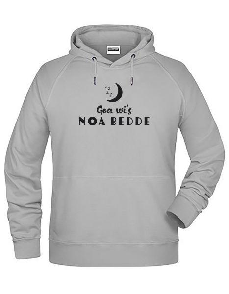 Goa wi's noa Bedde | Hoodie MAN | ASH (hellgrau)