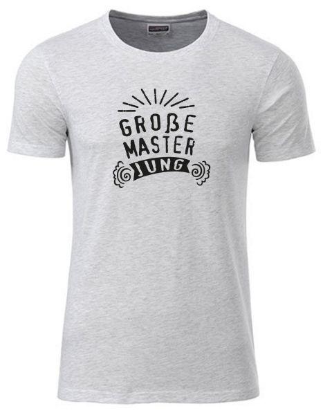 Große Master Jung | T-Shirt JUNGE | ASH HEATHER (hellgrau)