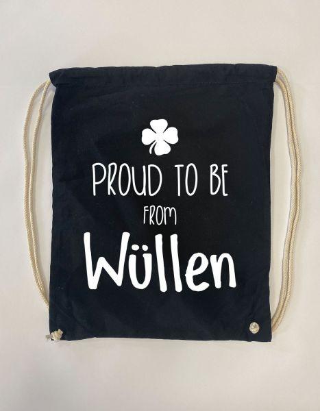 Proud to be from Wüllen | Baumwoll Rucksack | Sportsack