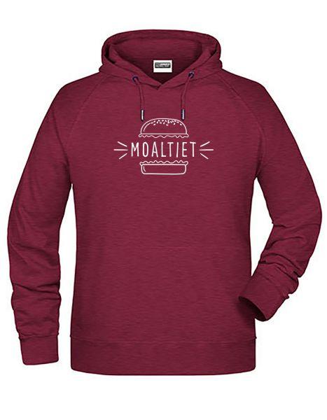 Moaltiet | Hoodie MAN | BURGUNDY MELANGE (burgunderrot)