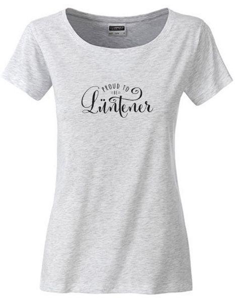 Proud to be Lüntener | T-Shirt DEERNE | ASH HEATHER (hellgrau)