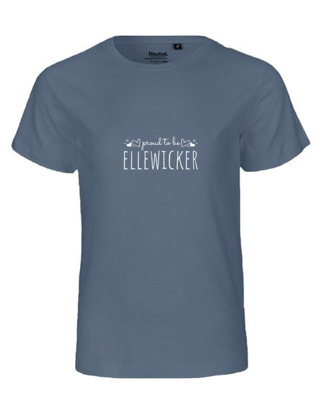 Proud to be Ellewicker | T-Shirt KINDER | DUSTY INDIGO (blaugrau)