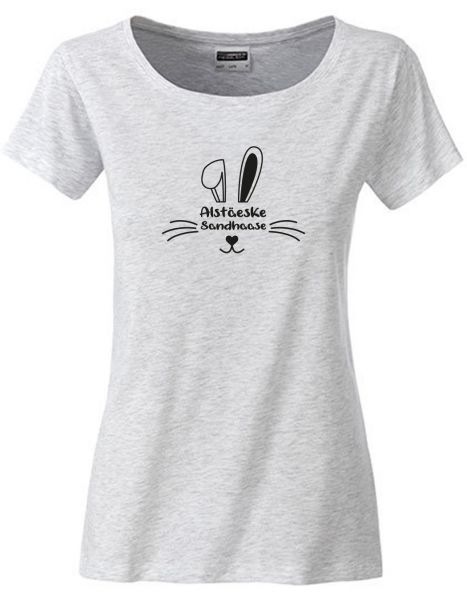Alstäeske Sandhaase | T-Shirt DEERNE | ASH HEATHER (hellgrau)