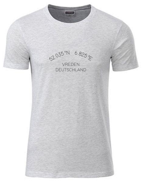 Koordinaten im Halbkreis | T-Shirt JUNGE | ASH HEATHER (hellgrau)
