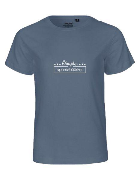 Öingske Spörriebüürkes | T-Shirt KINDER | DUSTY INDIGO (blaugrau)