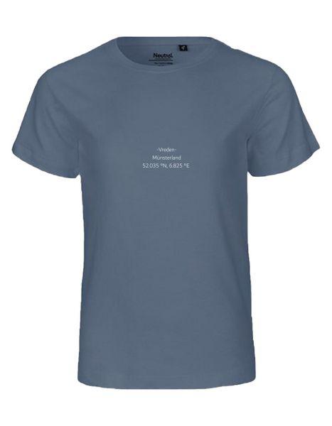 Breiten- und Längengrad klein | T-Shirt KINDER | DUSTY INDIGO (blaugrau)