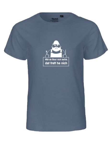 Wat de Buur nich kennt... | T-Shirt KINDER | DUSTY INDIGO (blaugrau)
