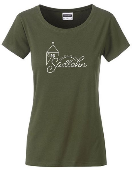 I am coming from Südlohn | T-Shirt DEERNE | OLIVE GREEN (olivgrün)