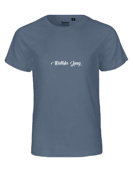 Wüllske Jung | T-Shirt KINDER | DUSTY INDIGO (blaugrau)