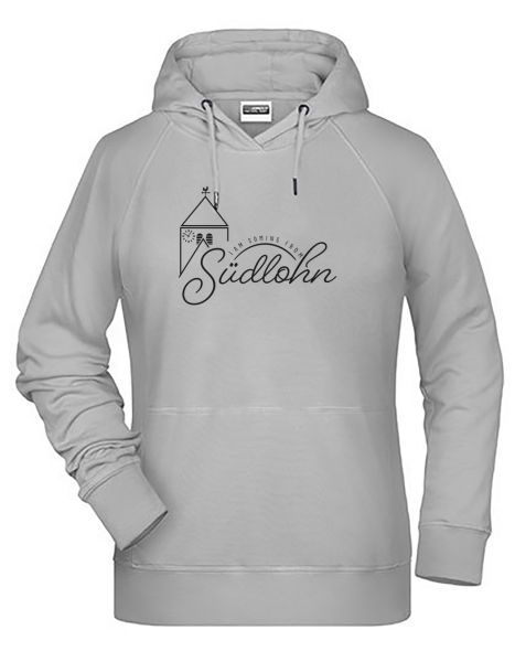 I am coming from Südlohn | Hoodie WOMAN | ASH (hellgrau)