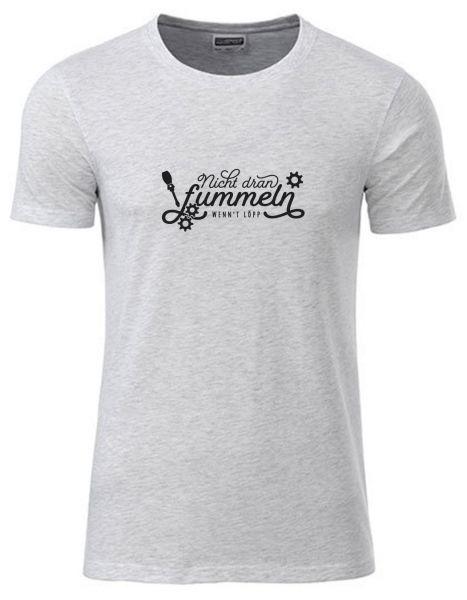 Nicht dran fummeln wenn't löpp | T-Shirt JUNGE | ASH HEATHER (hellgrau)