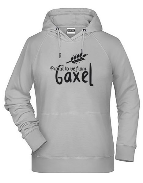 Proud to be from Gaxel | Hoodie WOMAN | ASH (hellgrau)