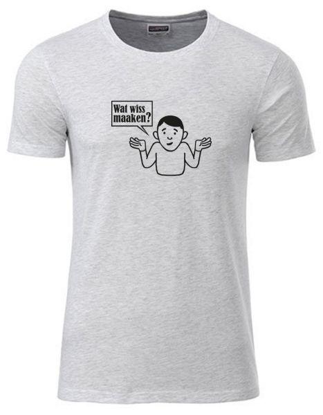 Wat wiss maaken? | T-Shirt JUNGE | ASH HEATHER (hellgrau)