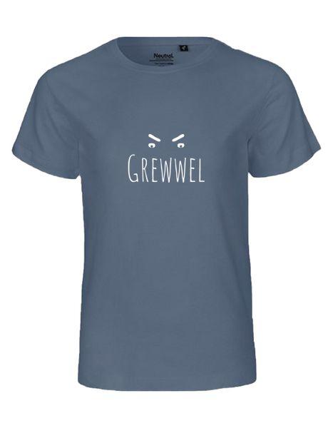 Grewwel   T-Shirt KINDER   DUSTY INDIGO (blaugrau)