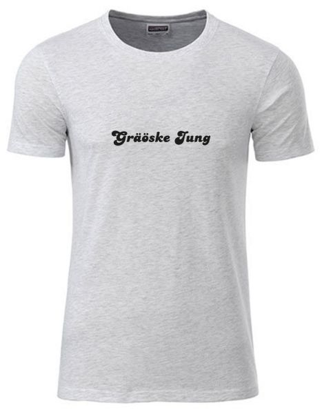 Graöske Jung | T-Shirt JUNGE | ASH HEATHER (hellgrau)