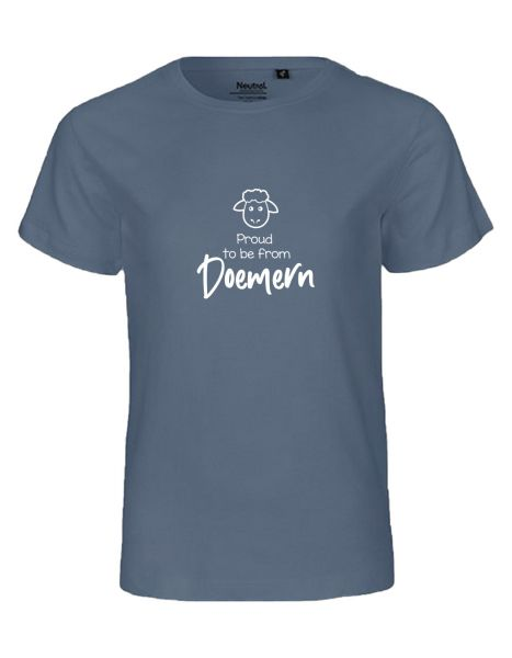 Proud to be from Doemern | T-Shirt KINDER | DUSTY INDIGO (blaugrau)