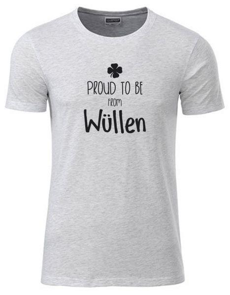 Proud to be from Wüllen | T-Shirt JUNGE | ASH HEATHER (hellgrau)